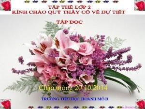 Cho mng 20102014 TRNG TIU HC HONH M