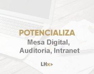 Mesa Digital Auditoria Intranet ndice Mesa Digital 3