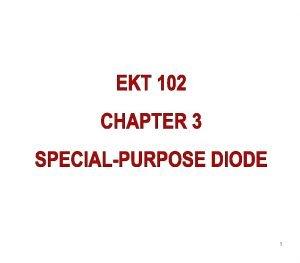 1 3 1 Zener Diode Zener diode is