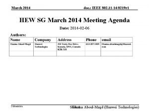 March 2014 doc IEEE 802 11 140219 r