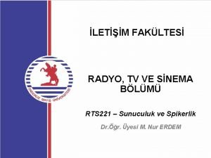 LETM FAKLTES RADYO TV VE SNEMA BLM RTS