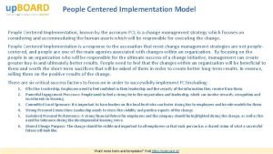 People Centered Implementation Model People Centered Implementation known