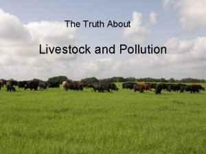 The Truth About Livestock and Pollution Livestock Operations