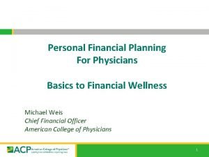 Personal Financial Planning For Physicians Basics to Financial