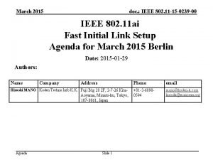 March 2015 doc IEEE 802 11 15 0239