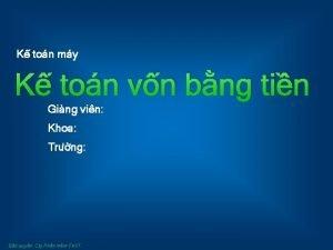 K ton my K ton vn bng tin