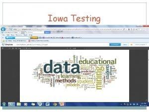 Iowa Testing 2013 Iowa Yearly Grade Comparison Iowa