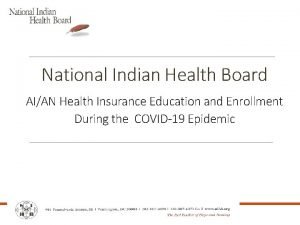 National Indian Health Board AIAN Health Insurance Education
