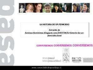 LA HISTORIA DE UN FEMICIDIO Extrado de feminasfeministas
