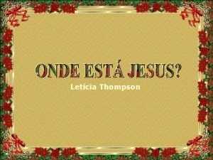 Letcia Thompson Mais um Natal que chega e