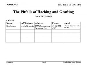 March 2012 doc IEEE 11 12 0314 r