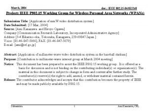 March 2004 doc IEEE 802 15 040153 r