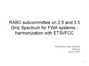 RABC subcommittee on 2 5 and 3 5