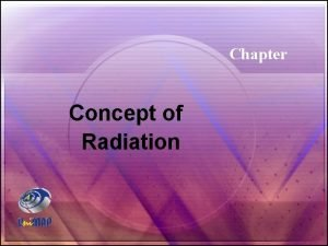 Chapter Concept of Radiation Chapter Outlines Chapter Concept