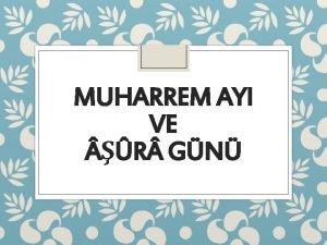 MUHARREM AYI VE R GN Haram Aylar phesiz