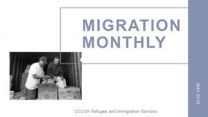 CCUSA Refugee and Immigration Services Support Immigration Refugee