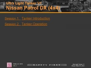 Ultra Light Tanker V 1 Nissan Patrol DX