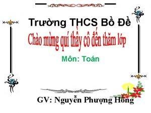 Trng THCS B Mn Ton GV Nguyn Phng