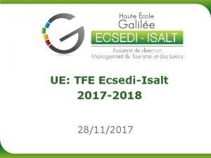 UE TFE EcsediIsalt 2017 2018 28112017 UE TFE