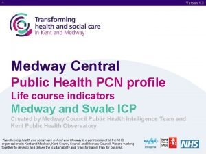 1 Version 1 3 Medway Central Public Health