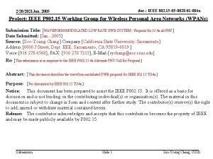 doc IEEE 802 15 05 0028 01 004