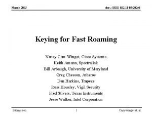 March 2003 doc IEEE 802 11 03202 r