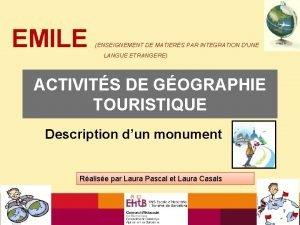 EMILE ENSEIGNEMENT DE MATIERES PAR INTEGRATION DUNE LANGUE