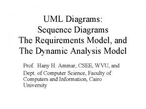 UML Diagrams Sequence Diagrams The Requirements Model and
