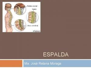 ESPALDA Ma Jos Retana Moraga La espalda es
