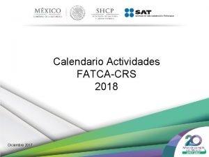 Calendario Actividades FATCACRS 2018 Diciembre 2017 Calendario Actividades