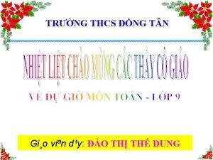 TRNG THCS NG T N Gio vin dy