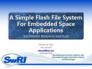 A Simple Flash File System For Embedded Space