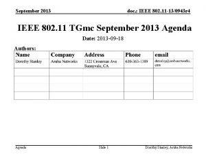 September 2013 doc IEEE 802 11 130943 r
