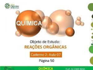 Objeto de Estudo REAES ORG NICAS Caderno 2