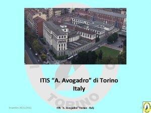 ITIS A Avogadro di Torino Italy Bruxelles 24112011
