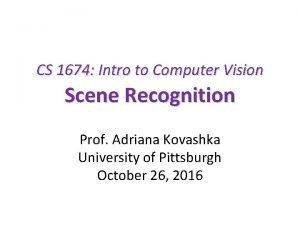 CS 1674 Intro to Computer Vision Scene Recognition