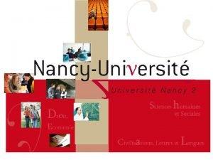 SOF Nancy 2 Offre de formation Nancy 2