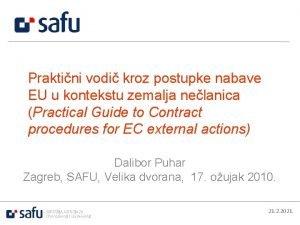 Praktini vodi kroz postupke nabave EU u kontekstu