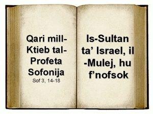 Qari mill Ktieb tal Profeta Sofonija Sof 3