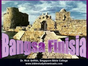 Dr Rick Griffith Singapore Bible College www biblestudydownloads