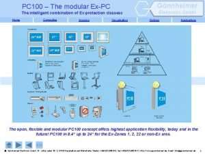 Gnnheimer PC 100 The modular ExPC The intelligent