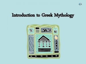 Introduction to Greek Mythology What Is A Myth