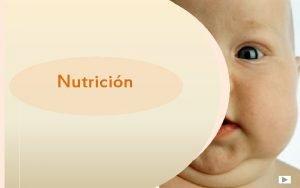 Nutricin INDICE LA NUTRICION IMPORTANCIA DE LA NUTRICION