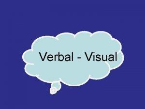 Verbal Visual VERBAL 20 VISUAL 80 TUA Susah