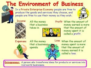 The Environment of Business In a Private Enterprise