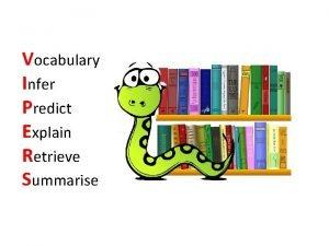 Vocabulary Infer Predict Explain Retrieve Summarise V I