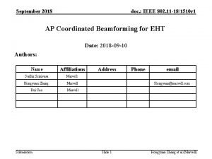 September 2018 doc IEEE 802 11 181510 r