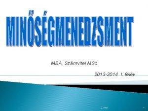 MBA Szmvitel MSc 2013 2014 I flv 2