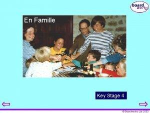 En Famille Key Stage 4 Boardworks Ltd 2003