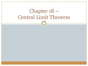 Chapter 18 Central Limit Theorem Dice simulator http